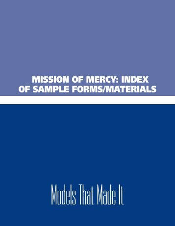 OF SAMPLE FORMS/MATERIALS - Virginia Health Care Foundation