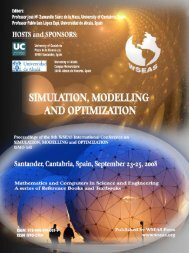 Simulation, modelling and optimization - WSEAS