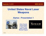 United States Naval Laser Weapons