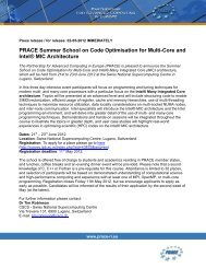 PRACE Summer School on Code Optimisation for Multi-Core and ...
