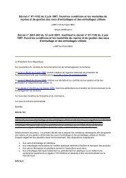 Décret n° 97-1102 du 2 juin 1997, fixant les conditions et les ... - REME