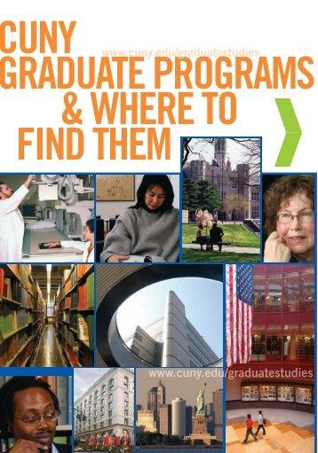 Grad brochure revised_10-08.ps - CUNY