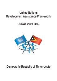 United Nations Development Assistance Framework UNDAF 2009 ...