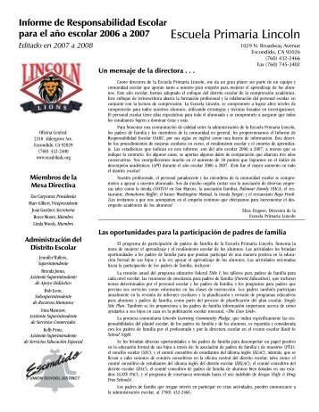 Escuela Primaria Lincoln - EUSD