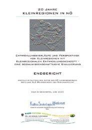20 Jahre Kleinregionen in Niederösterreich - Raumordnung und ...