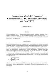 Comparison of AC-DC Errors of Conventional AC-DC Thermal ...
