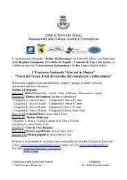 Città di Torre del Greco Assessorato alla Cultura, Eventi e ...