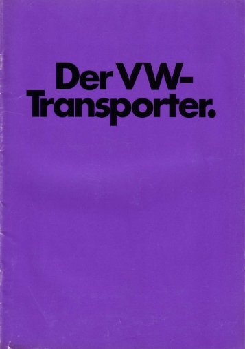 Leseprobe als PDF (7.4MB) - Baduras Volkswagen T2-Bulli Seite