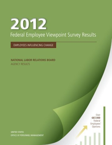 2012 Federal Employee Viewpoint Survey Results - National Labor ...