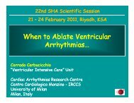 When to Ablate Ventricular Ventricular Arrhythmias Arrhythmias…