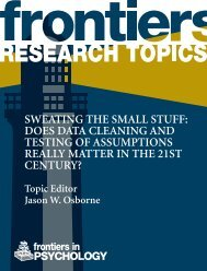 Sweating the Small Stuff: Does data cleaning and testing ... - Frontiers