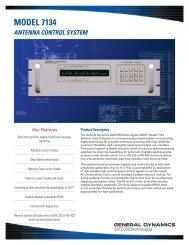 MODEL 7134 - General Dynamics SATCOM Technologies