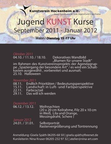 Jugend KUNST Kurse - Kunstverein Hockenheim
