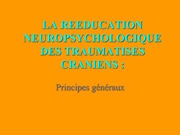 la rééducation neuropsychologique des traumatisés crâniens - ampra