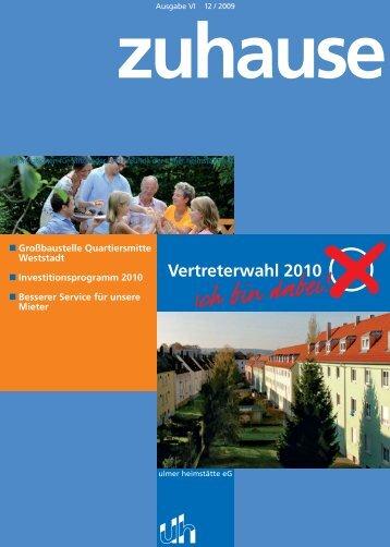zuhause - Ulmer Heimstätte e. G.
