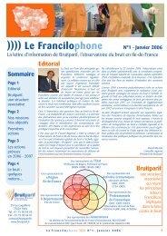 31/05/2010 Francilophone N°1 - Bruitparif