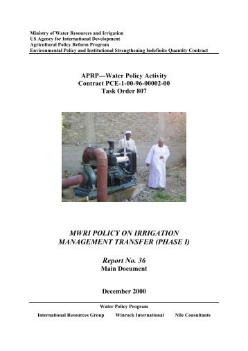 Report 36 MWRI Policy on Irrigation Management Transfer