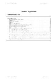 Schiphol Regulations Table of Contents - Airport Mediation - Home