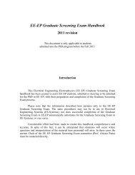 EE-EP Graduate Screening Exam Handbook - USC Ming Hsieh ...