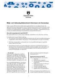 Miljö- och hälsoskyddskontoret informerar om faroanalys - Upplands ...
