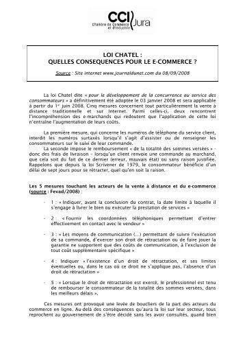Loi Châtel - CCI du Jura