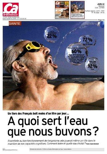 Un tiers des Français boit moins d'un litre par jour... - talkSpirit