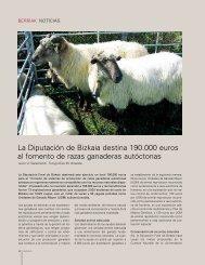 La Diputación de Bizkaia destina 190.000 euros al fomento de razas ...