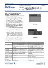 General Specifications - Yokogawa
