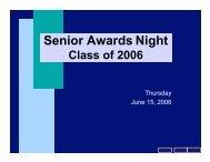 Senior Awards Night - nhhsalumni.com