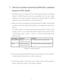 1 Návod na instalaci prostred´ı LeJOS-NXJ a prehrán´ı firmwaru ...