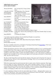 CD Review 3 Songs discovered: Judith Buckle - Dr David Wright