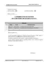 a debreceni egyetem sugárvédelmi szabályzata - Nukleáris ...
