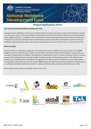 Project Application Form - Service Skills