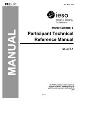 Participant Technical Reference Manual - Independent Electricity ...