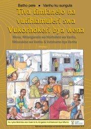 Xana Nawu wu Vula Yini? - Department of Public Service and ...