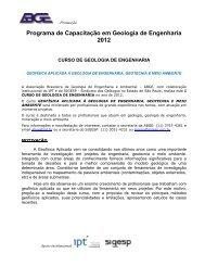 Programa de Capacitação em Geologia de Engenharia 2012 - ITpack