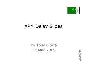 Delay analysis - Association for Project Management