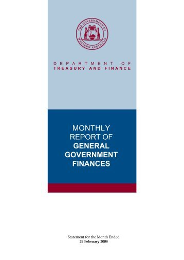 General Government Finances - February 2008