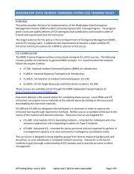 ICS State Training Policy (Updated June 3, 2013) - Washington ...