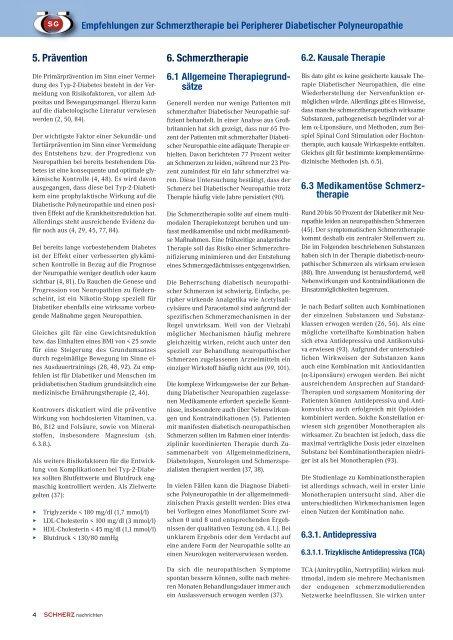 Empfehlungen zur Schmerztherapie bei Peripherer Diabetischer ...