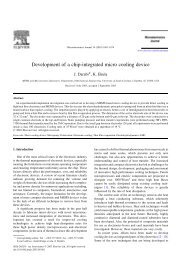 Development of a chip-integrated micro cooling device - Mechanical ...