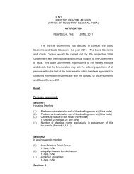 Specimen of the Notification of the Questionnaire - Ministry of ...
