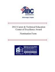 2012 Career & Technical Education Center of ... - Msabc.net