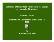 Selection of Rock Mass Parameters for Design of ... - KW Conferences