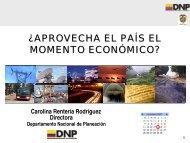 Presentación de la directora del DNP, Carolina Rentería, en el ...