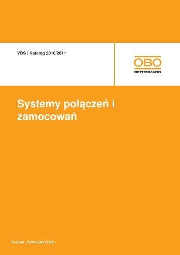 VBS | Systemy mocowania kabli i rur - systemy z ... - OBO Bettermann