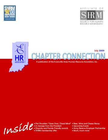 July 2009 - Evansville-Area Human Resource Association