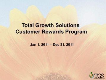 Total Growth Solutions Customer Rewards Program