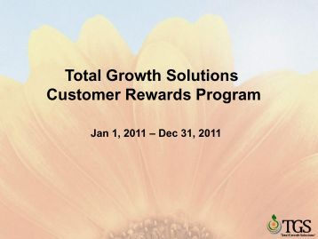 Total Growth Solutions Customer Rewards Program
