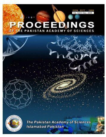 Proceedings of paspk.org Volume42-4 - Pakistan Academy of ...